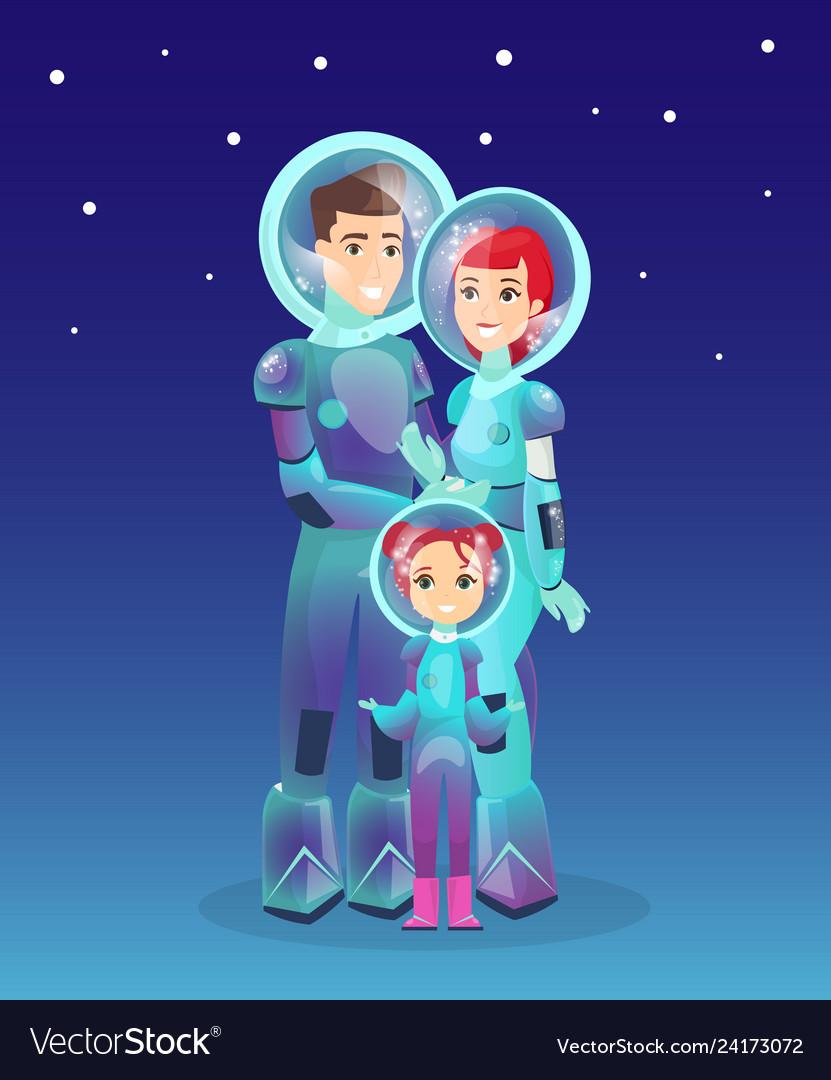 Astronauts family spaceman