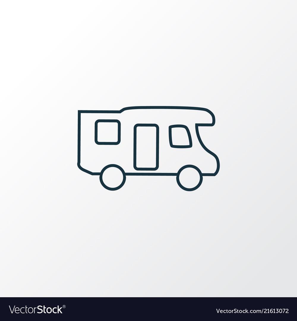 Campervan icon line symbol premium quality