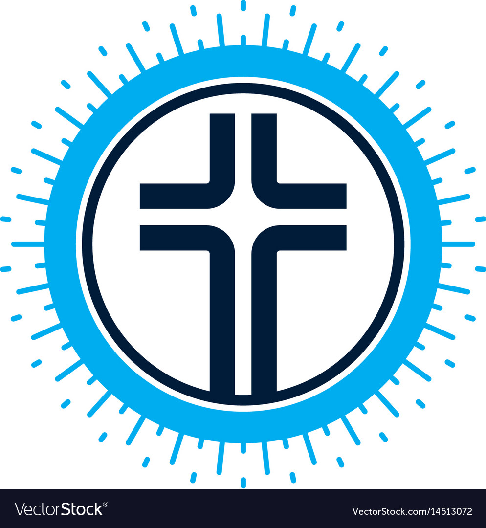 Christian Cross Symbol Christianity God Religion Vector Image
