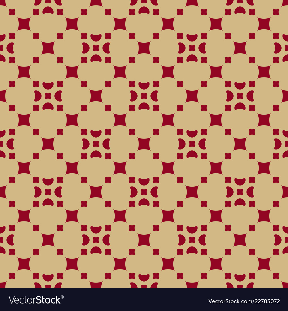 Gold and red geometric seamless pattern with