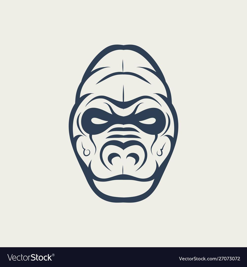 Gorilla logo design icon