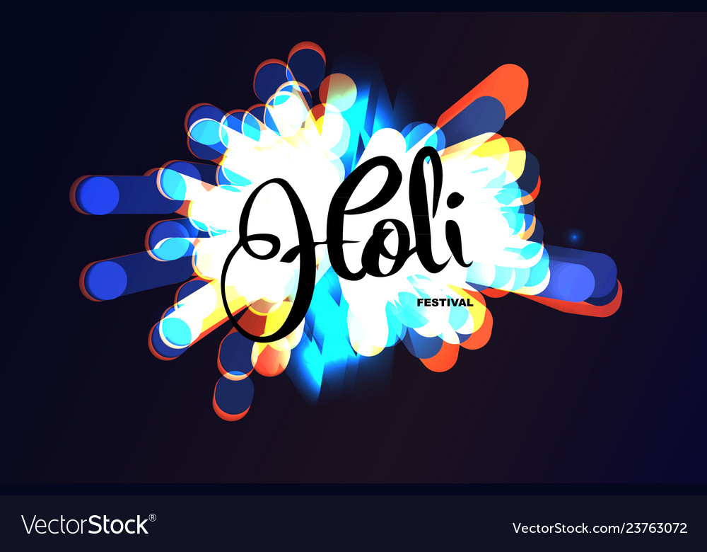 Holi indian festival of colors background