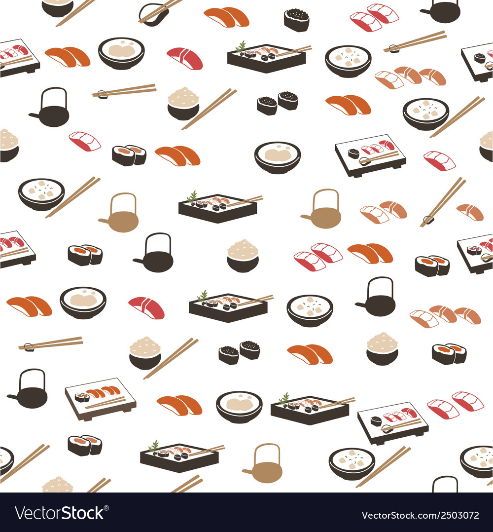 Japanese food seamless pattern
