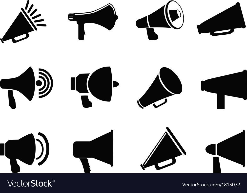 Megaphone icons vector image