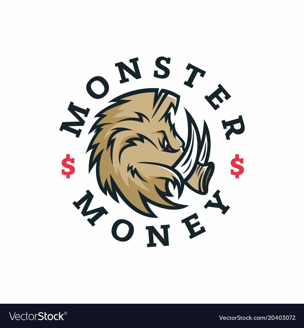 Modern professional logo emblem monster