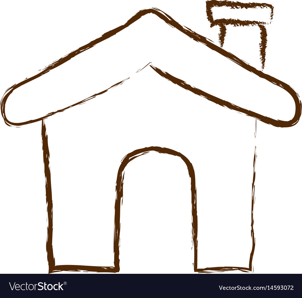Monochrome hand drawn silhouette of house icon