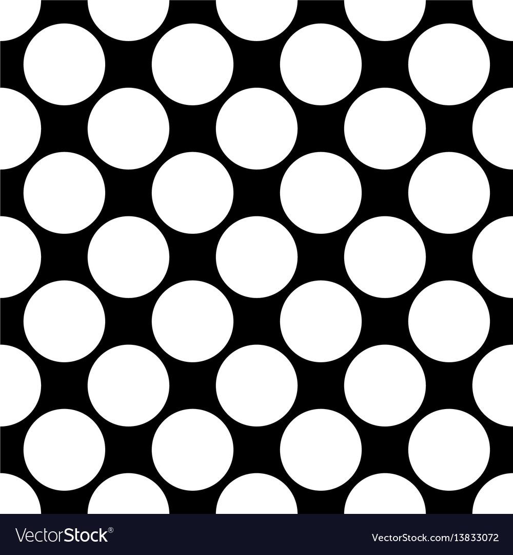 Seamless polka dot pattern white dots on black