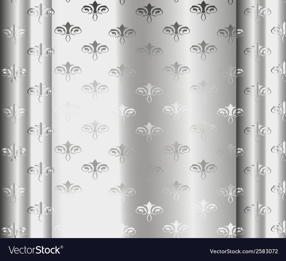 Silver Luxury Vintage Wallpaper Royalty Free Vector Image