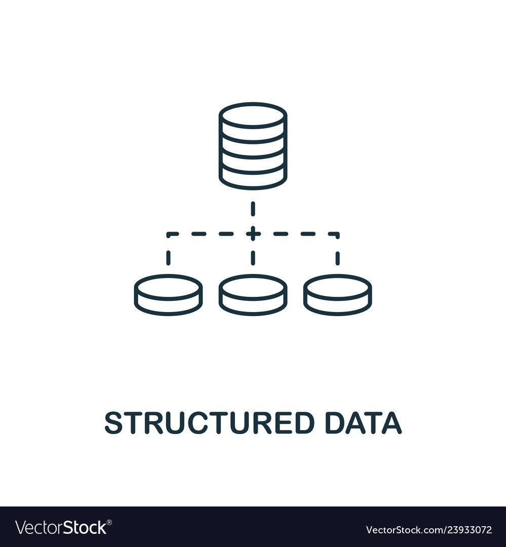 Structured data outline icon thin line style from