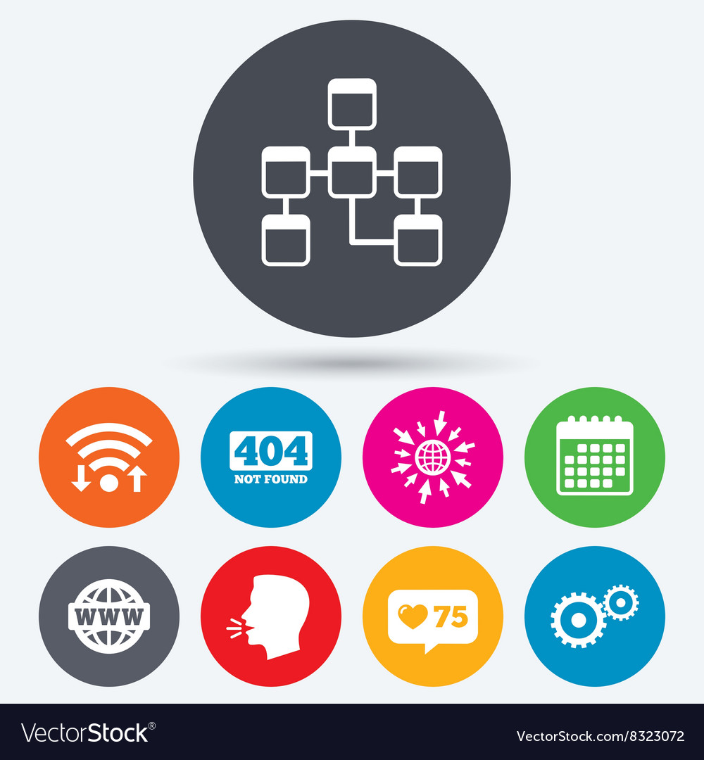 Website database icon Internet globe and repair vector image on VectorStock