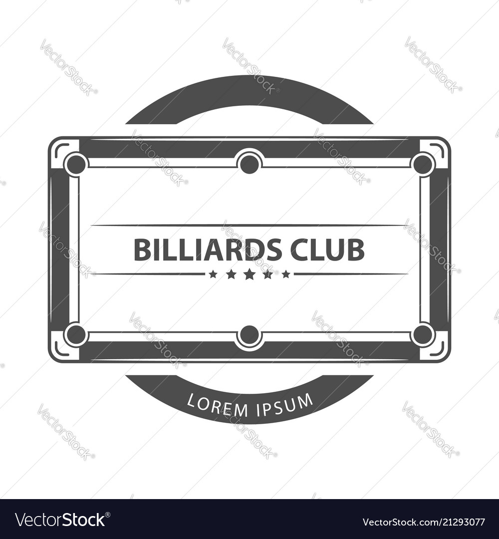 Billiard game with text logo