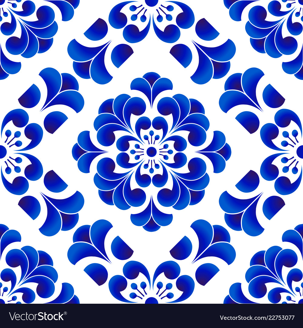 Chinese Pattern Flower Royalty Free Vector Image