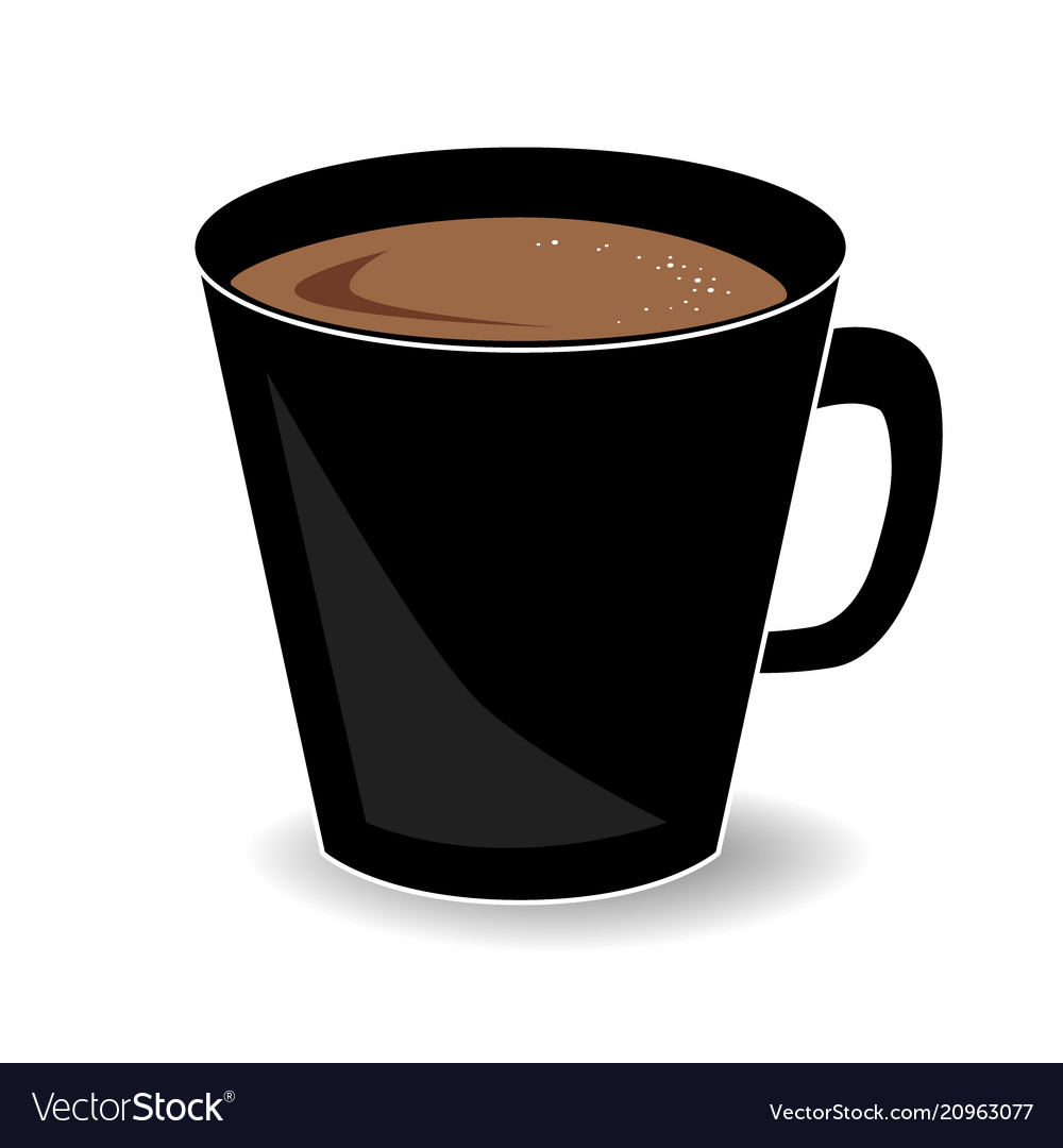 Cup of hot chocolate or cocoa drink isolated on