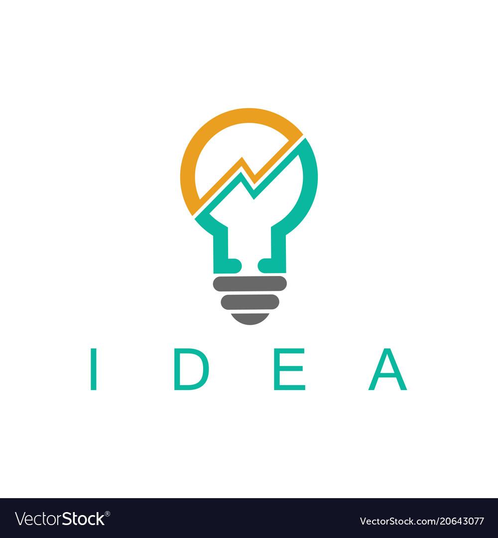 Light bulb idea business logo