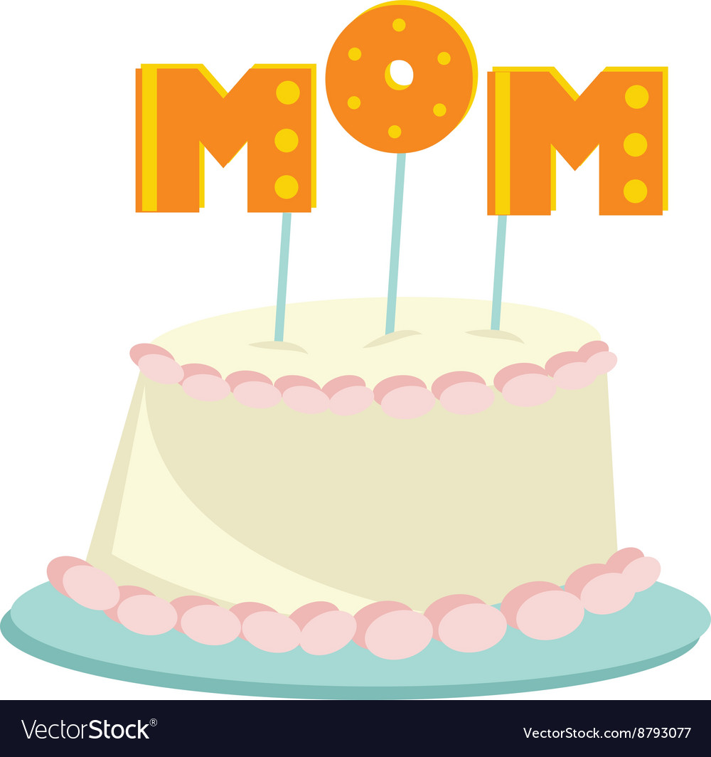 Marvelous Mom Cake Royalty Free Vector Image Vectorstock Birthday Cards Printable Opercafe Filternl