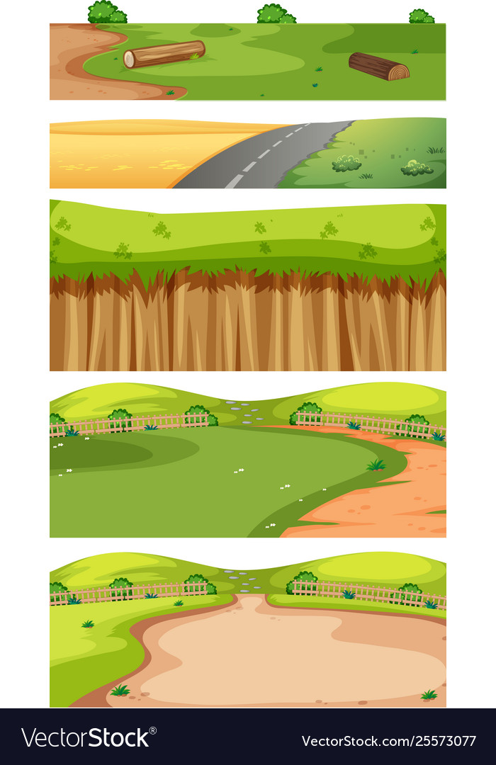 Set nature landscape