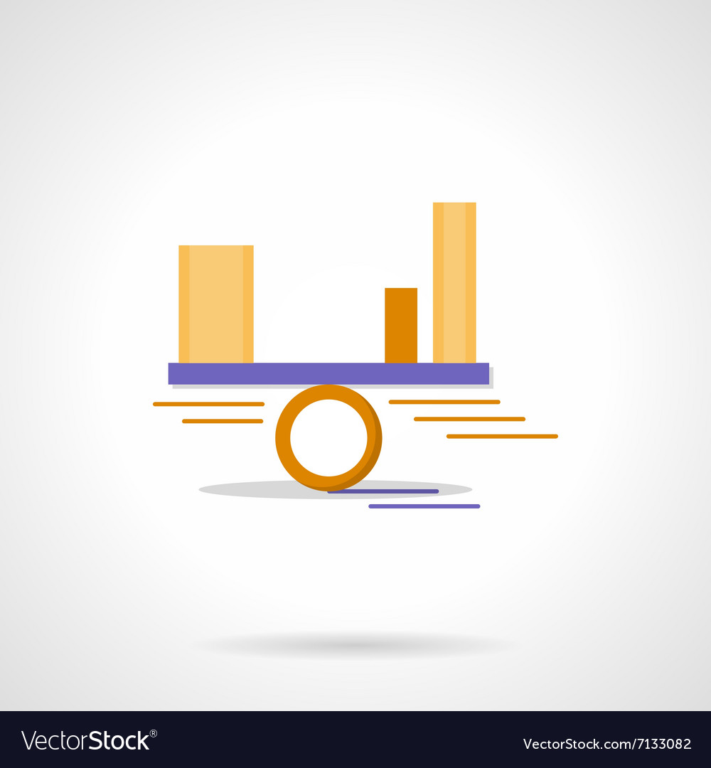 Balance diagram abstract flat color icon