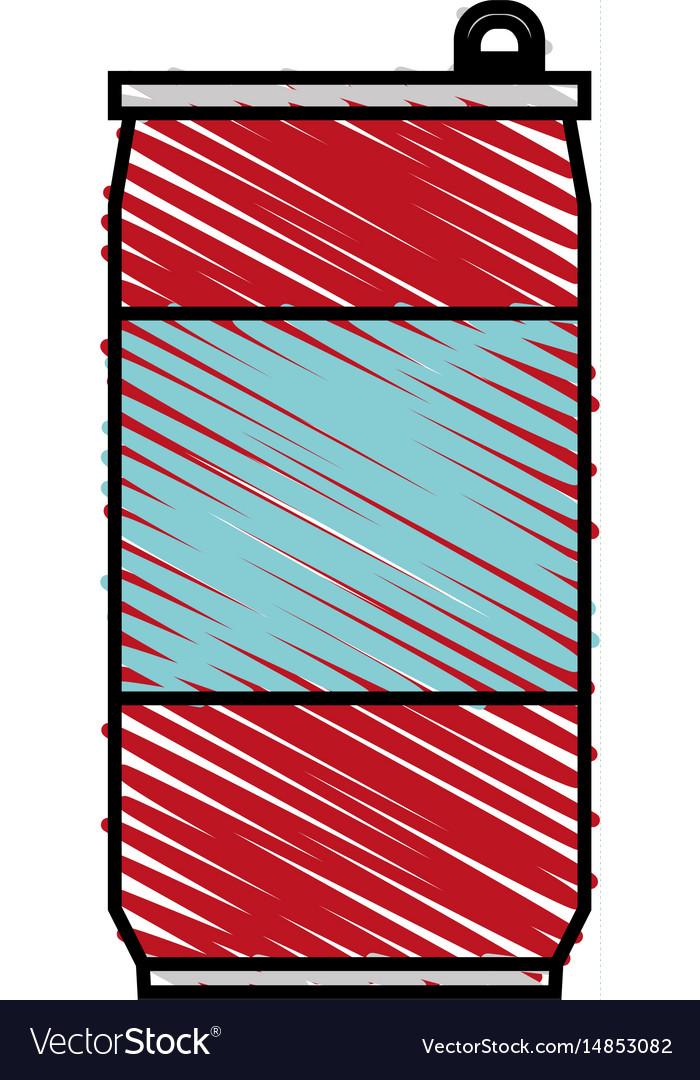 Color crayon stripe cartoon soda can of drinks
