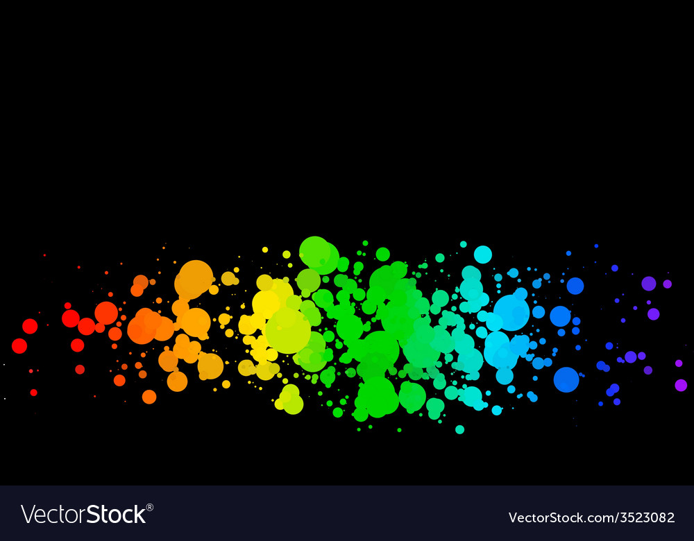 Colored circles on a black background