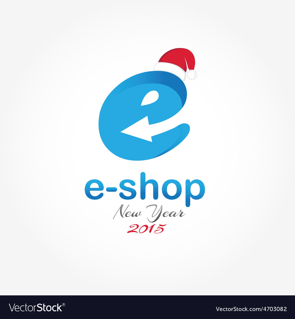 E shop new year design template