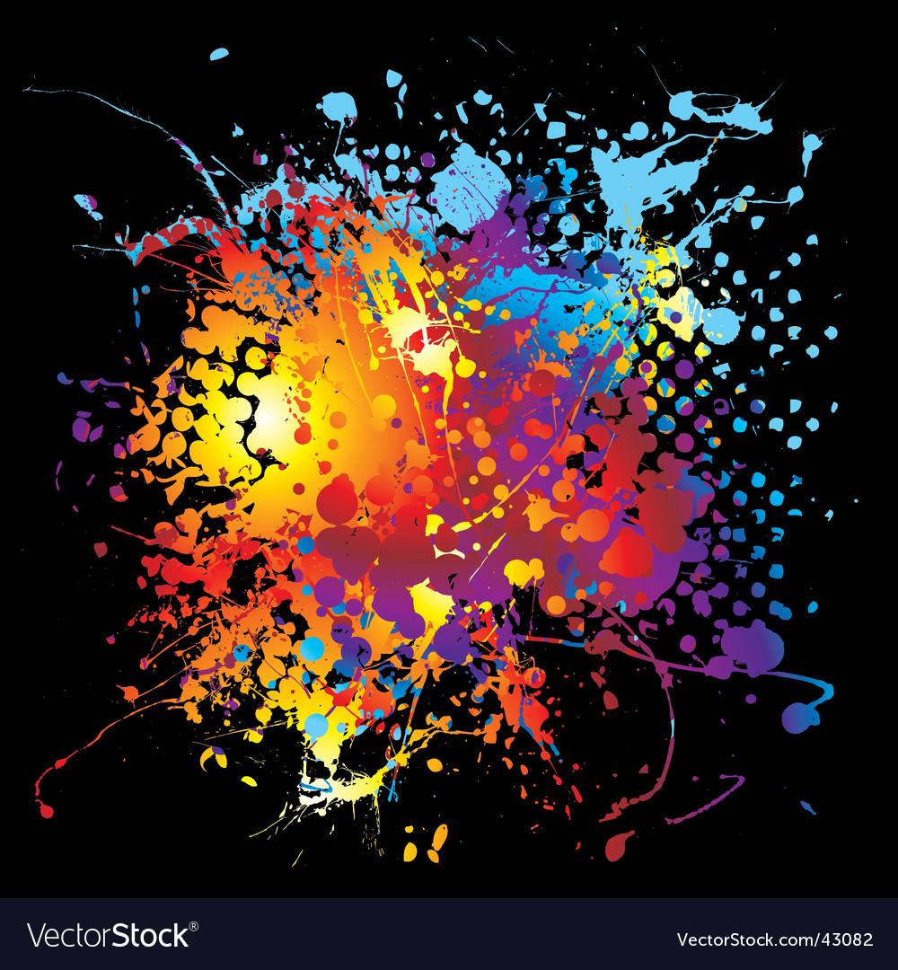 Halftone ink rainbow vector image