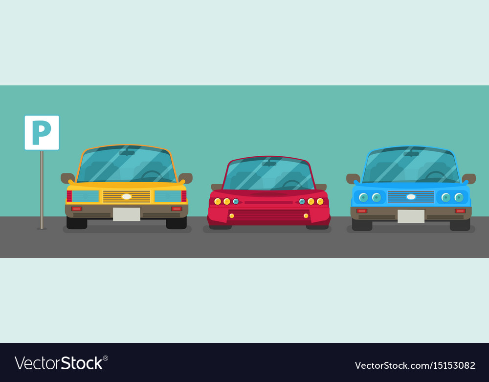Parking zone element of graphical design flat vector image