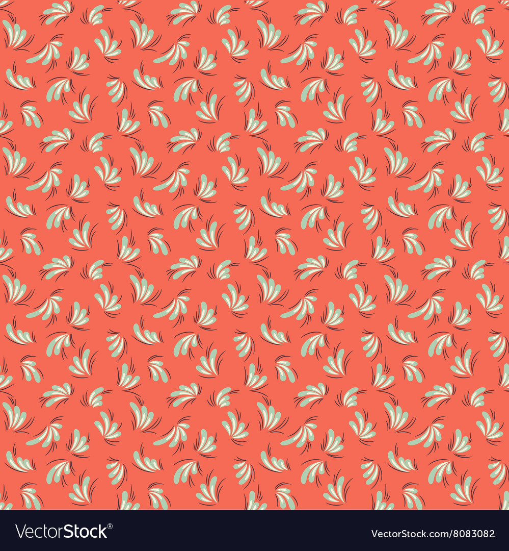 Seamless red abstract pattern vector image