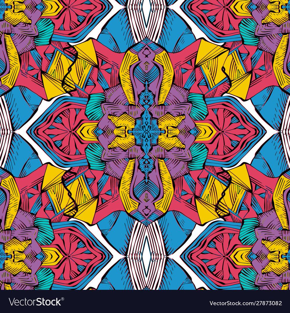 Simple repetition mosaic design geometric