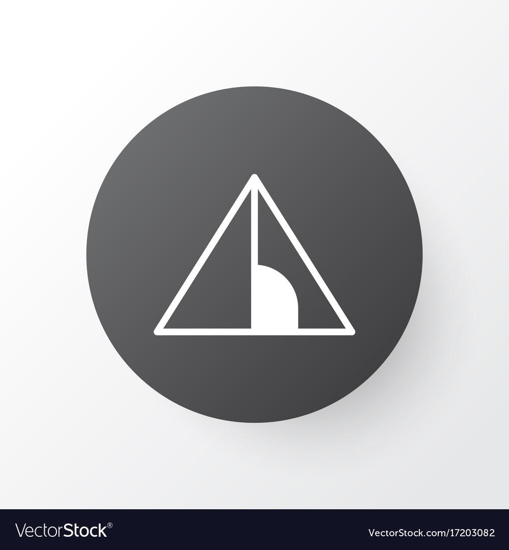 Tent icon symbol premium quality isolated camping