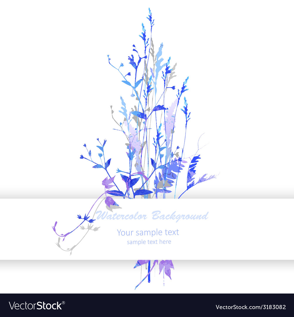 Watercolor with flowers vector image