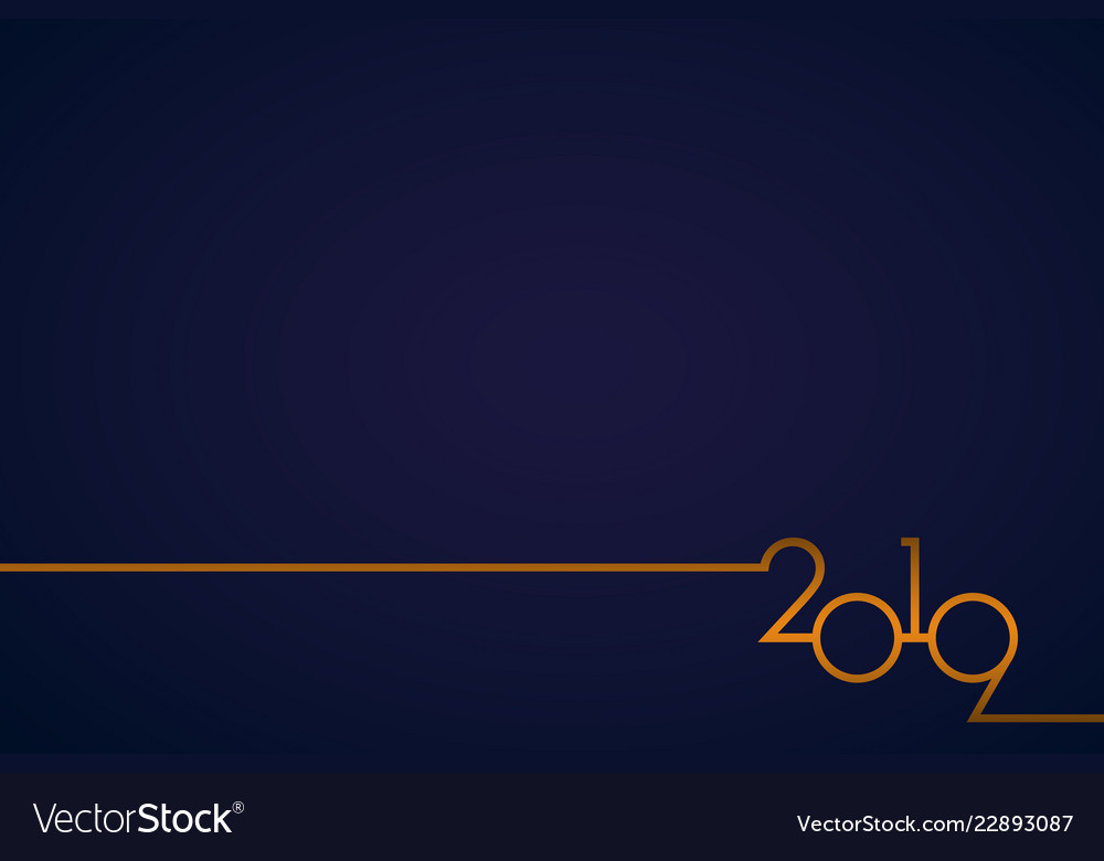 Classy 2019 happy new year background logo