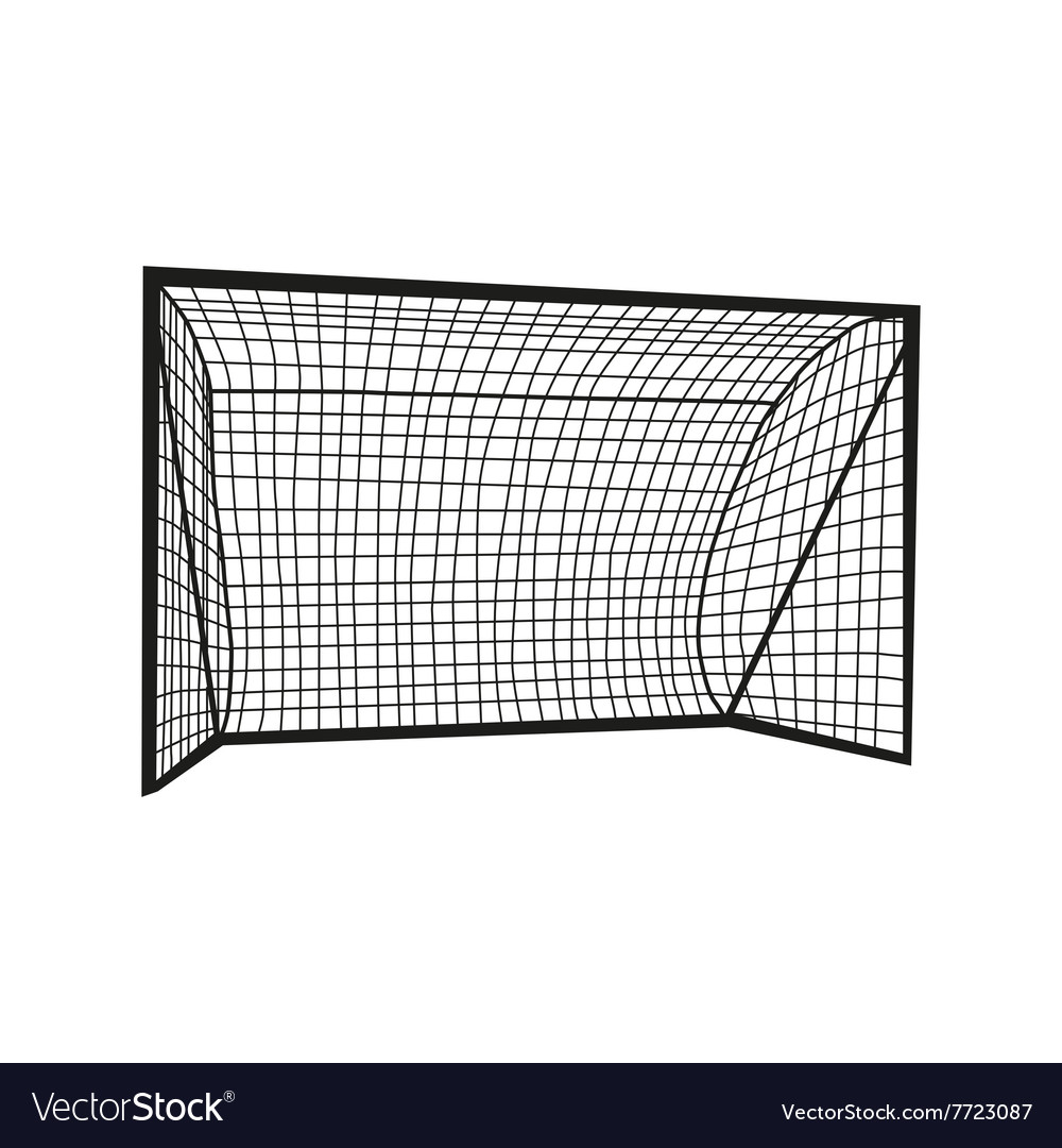 Football goal silhouette vector image