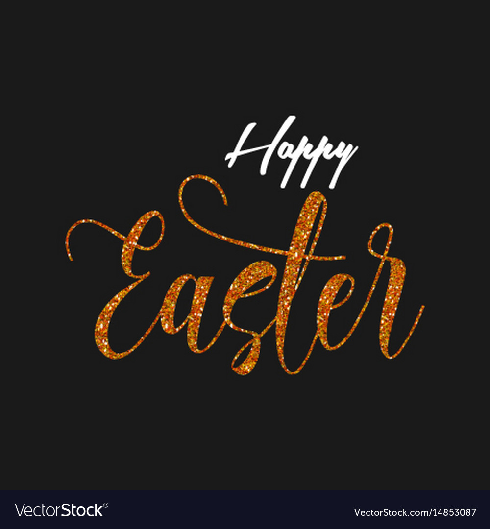 Happy easter glitter style background