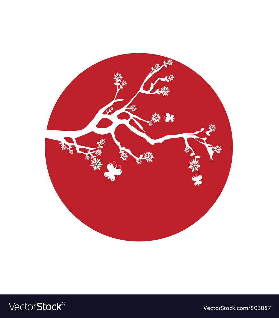 Japanese flag vector image