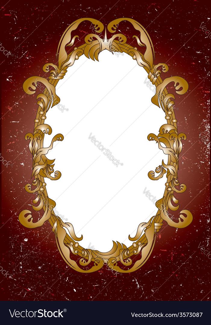 Vintage ornate frame vector image