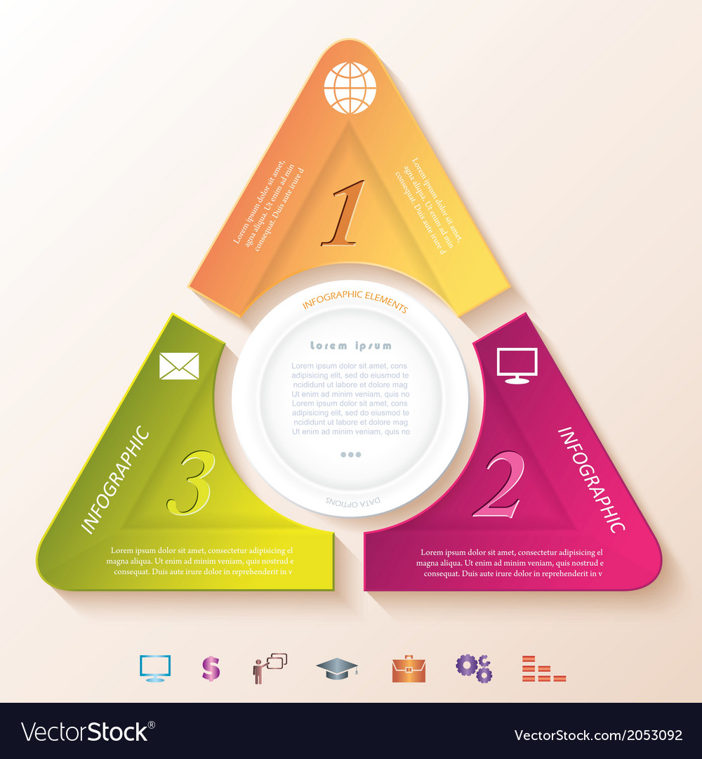 Abstract infographic design