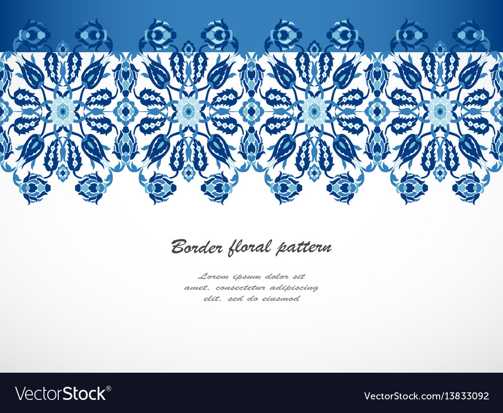 Arabesque lace damask seamless border floral