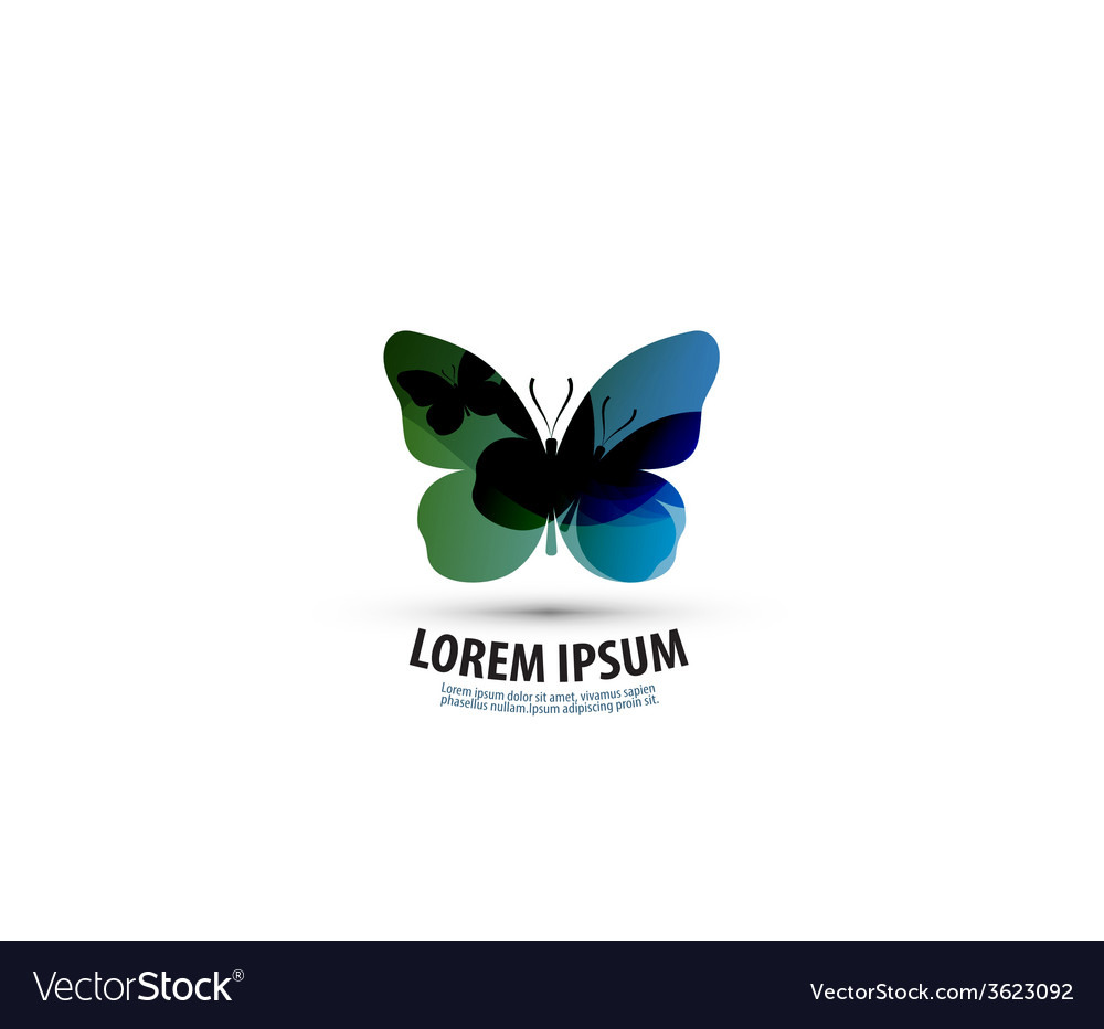 Butterfly logo icon sign emblem template