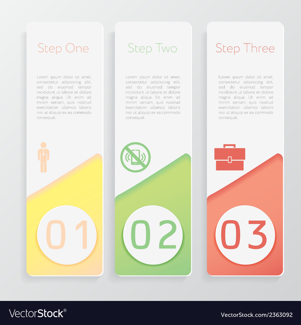 Design number banners template website layout