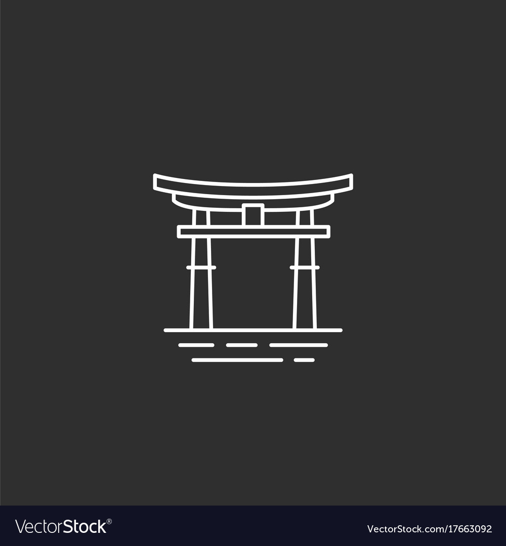 Japan landmark in outline style vector image