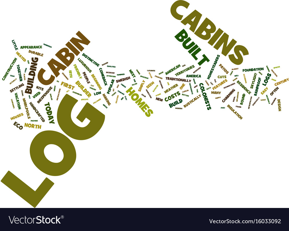 Log cabin fever text background word cloud concept vector image