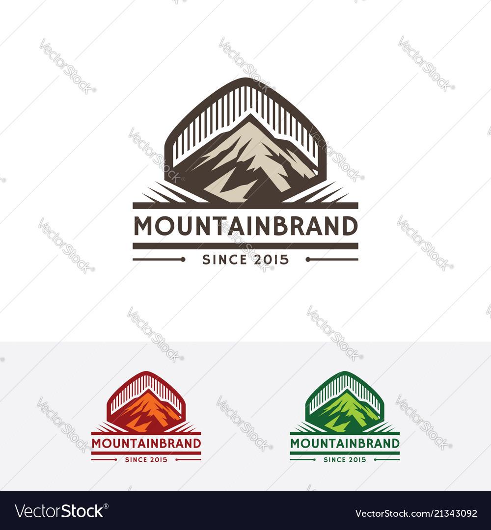 Mountain brand logo