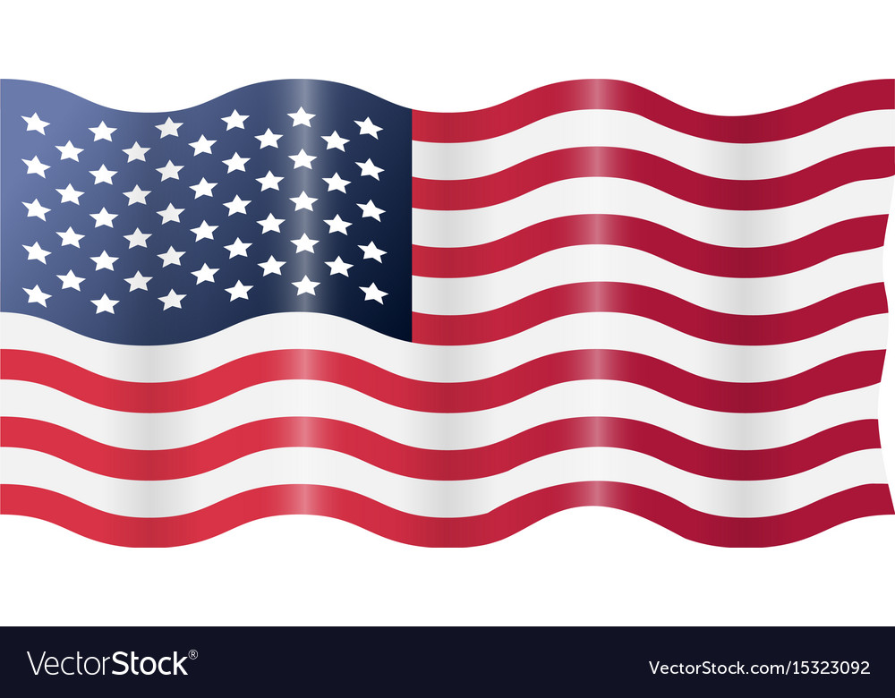 usa american flag waving royalty free vector image rh vectorstock com Waving American Flag Background waving american flag vector free download