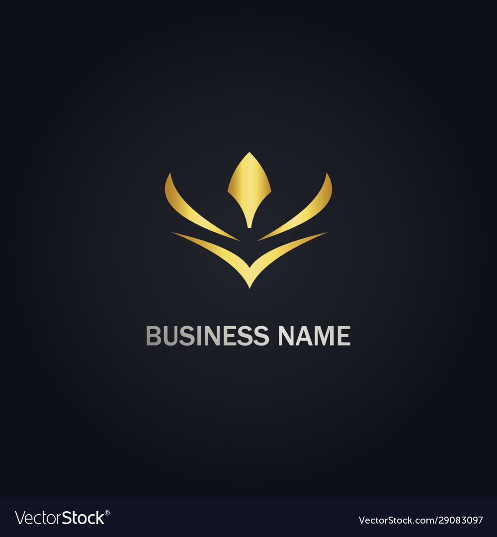 Abstract flower gold logo