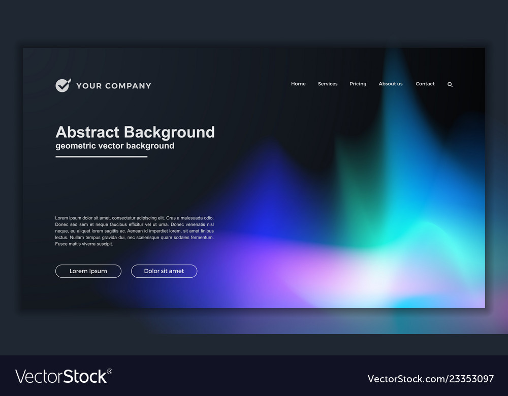 Abstract liquid background for your landing page