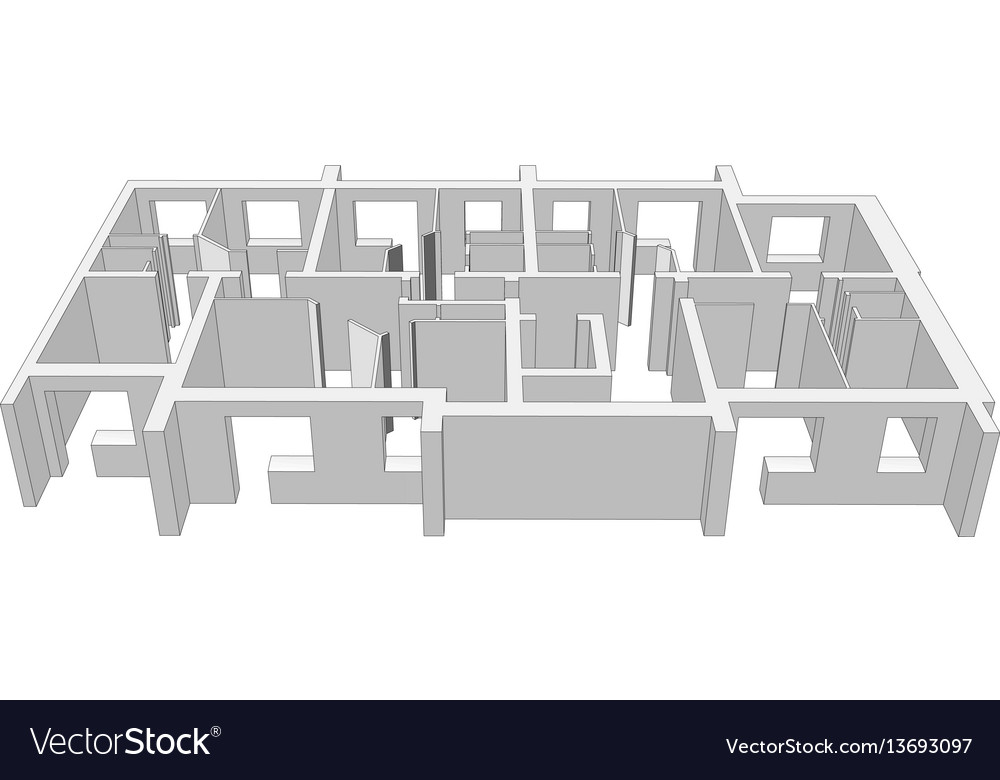 Building plan Royalty Free Vector Image VectorStock