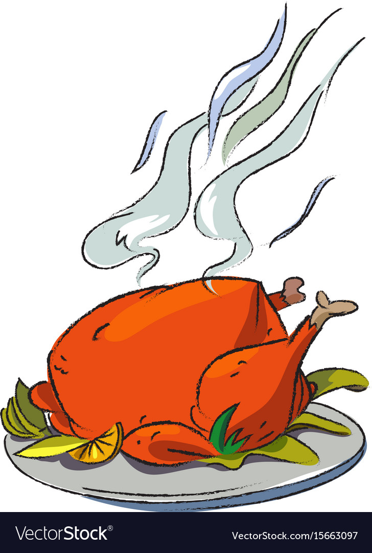 cartoon image of cooked turkey royalty free vector image rh vectorstock com cooked turkey cartoon images cooked turkey cartoon pics
