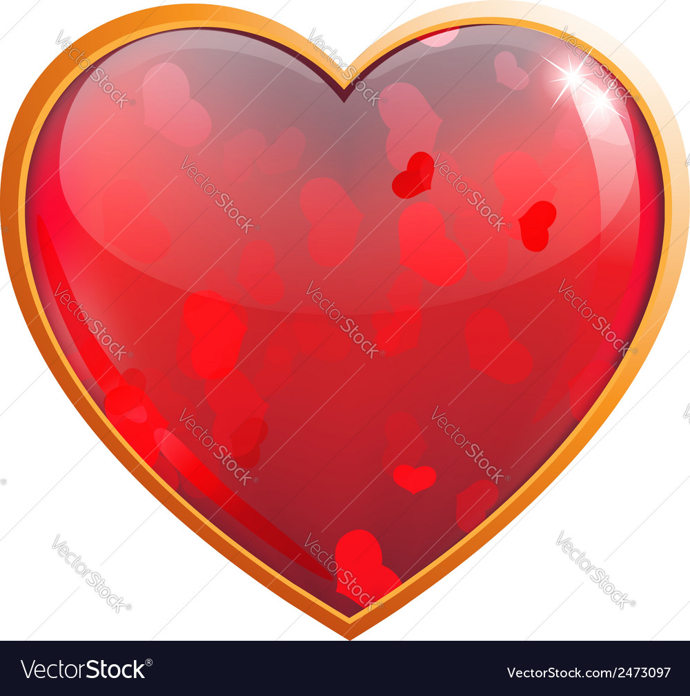 Clear Sparkling Heart Royalty Free Vector Image