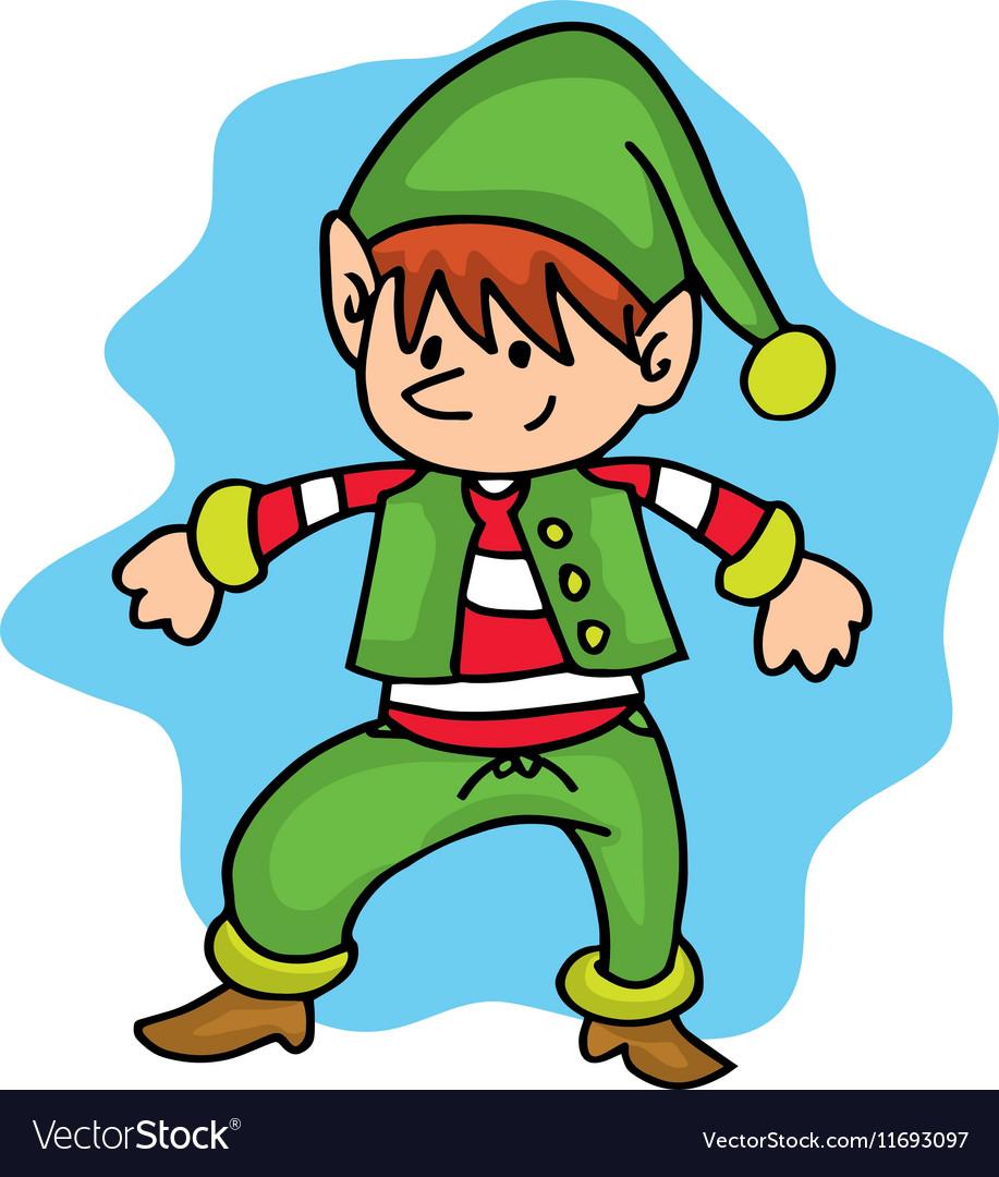 Dance elf Christmas character theme