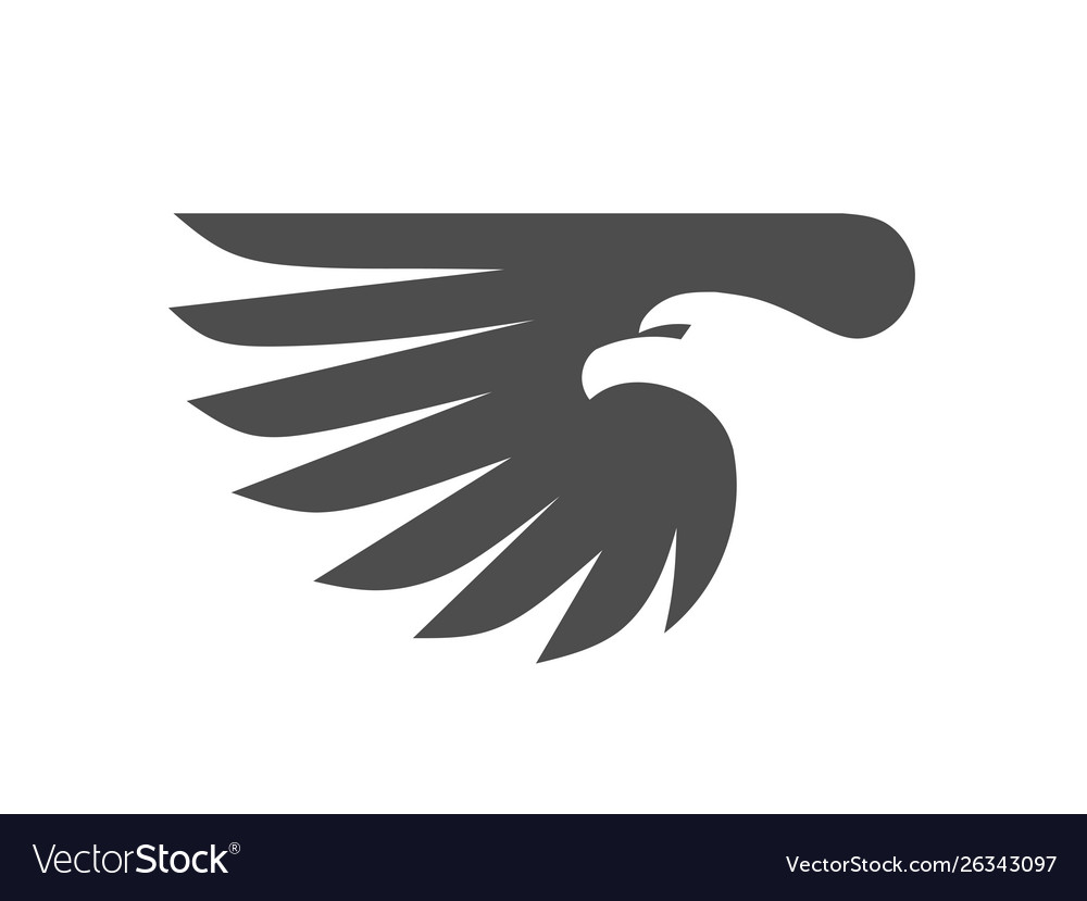 Eagle head with wing